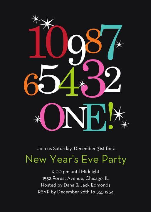 New Year Countdown Invitation New Years Eve Invitations New Years Eve Birthday Party New Years Countdown