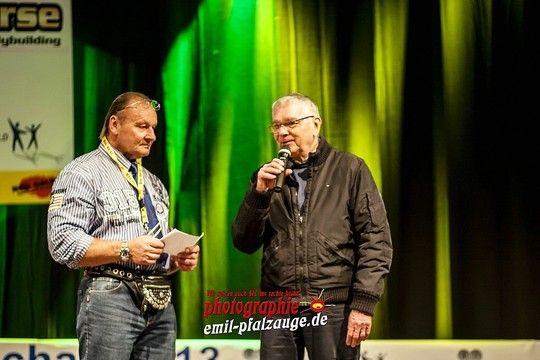 Eröffnung der Weltmeisterschaft mit dem Präsidenten der WABBA Wilhelm Hauck und dem Schirmherr der Veranstaltung Herrn Duppré Landrat des Landkreises Südwestpfalz