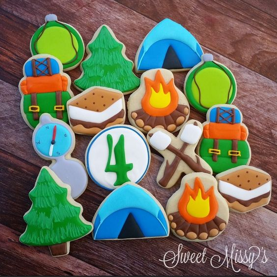 Sweet Missy's - Cookies for a camping themed 4th birthday! Thanks...: