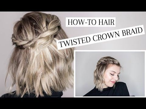 Twisted Crown Braid Hair Tutorial Youtube With Images