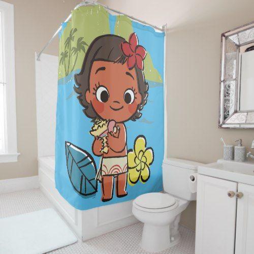 Moana Island Daughter Shower Curtain Zazzle Com Custom Shower Custom Shower Curtains Moana Gifts
