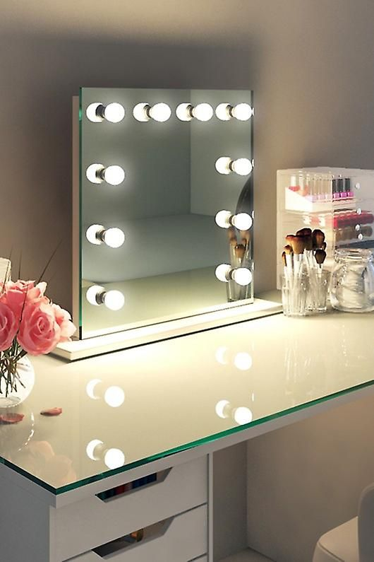 Diamond X Table Top Hollywood Makeup Mirror With Dimmable Led