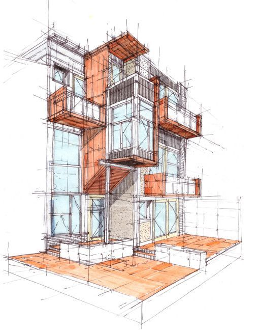 Gallery Of Rag Flats Onion Flats 20 In 2020 Architecture Sketch Architecture Graphics Architecture Illustration