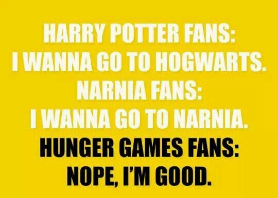 Want to go to thw Hunger Games?