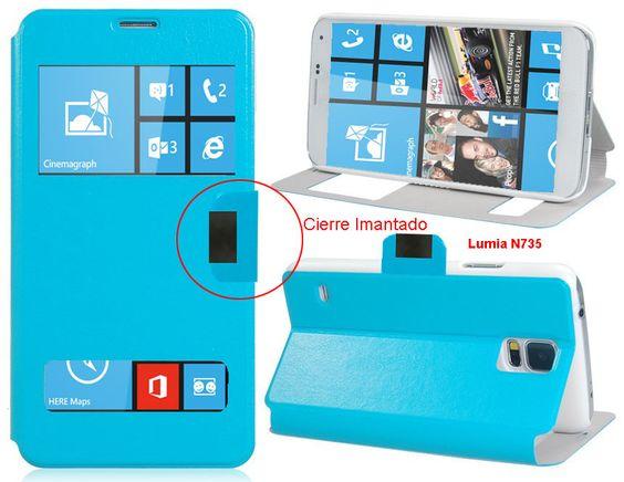 Funda Tipo Libro Con Doble Ventana Para Nokia Lumia N735 - Con la Funda Tipo Libro Con Doble Ventana Para Nokia Lumia N735tendrás una protección total del tu teléfono móvil, ya que protege tanto delante como la parte de atrás de esta forma tendrás protección 100% del dispositivo. Diseñada exclusivamente para Nokia Lumia N735, encajandoperfectamente ade... - http://www.vamav.es/producto/funda-tipo-libro-con-doble-ventana-para-nokia-lumia-n735/