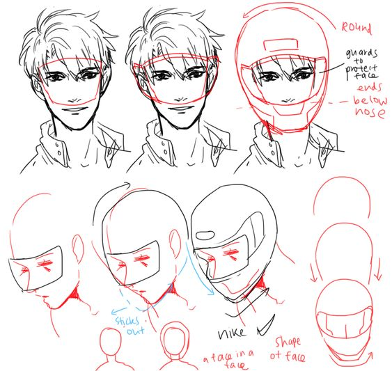Character Design Tutorial Manga : Helmets character design and references