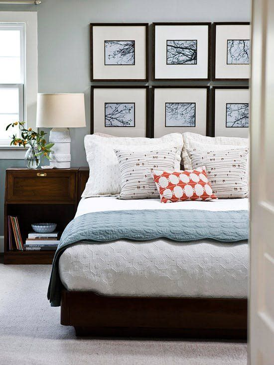 15 Ideas For Filling The Empty Space Above Your Bed Bedroom Wall