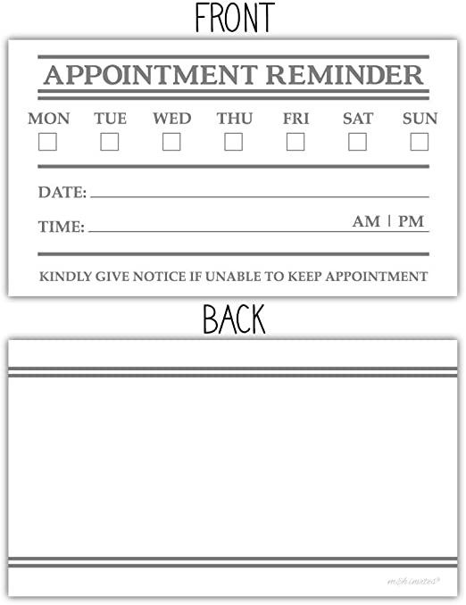 Free Printable Appointment Reminder Cards Birthday Card Printable Party Invite Template Card Template