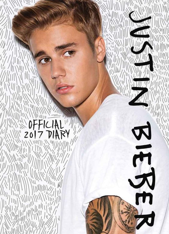 Justin Bieber Official A6 Diary 2017