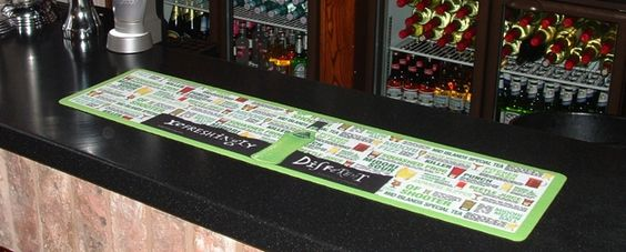 Bar-Runners by Kleen-Tex. For high impact bar and table top advertising at the point of sale. #barmat