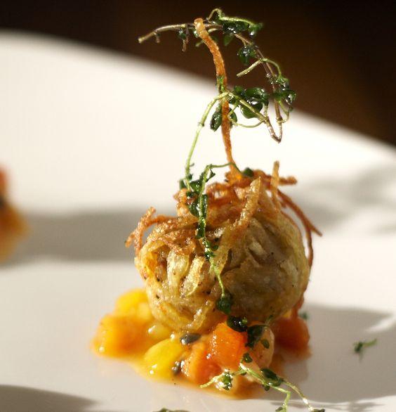 Bonbons de foie gras . http://blog.bradswine.com/food-and-wine-pairing-with-brad-muscat/