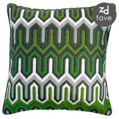 Jonathan Adler flame green bargello pillow
