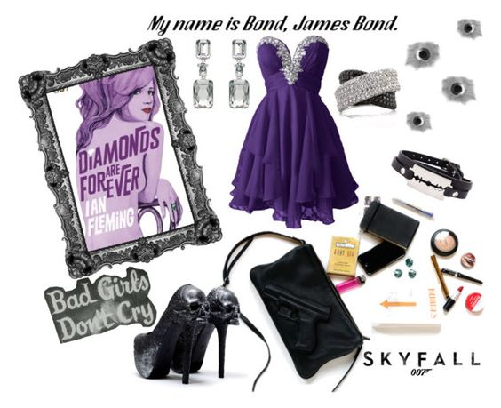 """""""Bad Bond Girl"""" by mysterekitty on Polyvore featuring Spy Optic, James Bond 007, McQ by Alexander McQueen, Mark Broumand and Oscar de la Renta"""