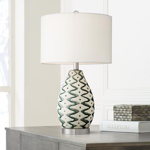 Jones Painted Ceramic Table Lamp 53x63 Lamps Plus Table Lamp Ceramic Table Lamps Ceramic Painting