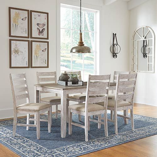 Simply Striking This Dining Set Instantly Evokes A Coastal Chic