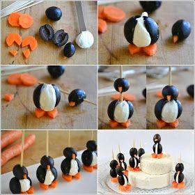 DIY Cute Olive Penguins Apitizer