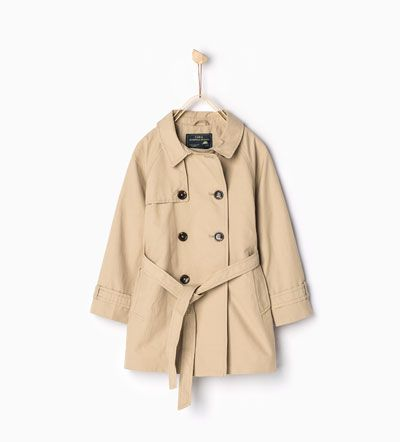 Long trench coat-Jackets-Girl | 4-14 years-COLLECTION SS16 | ZARA
