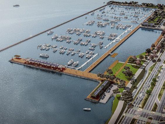 Marina oferecerá até 600 vagas para as embarcações (Foto: Divulgação)