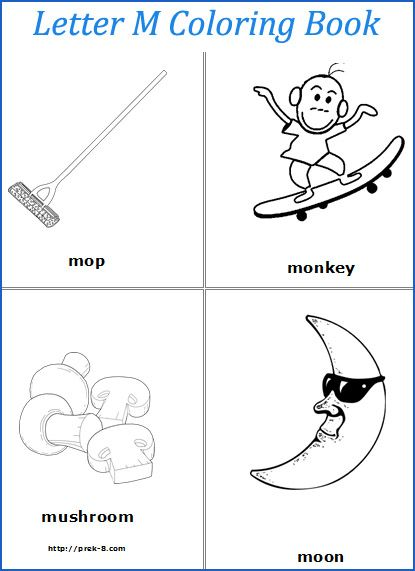 Letter m words coloring pages | Preschool-ABC(Letters) | Pinterest ...