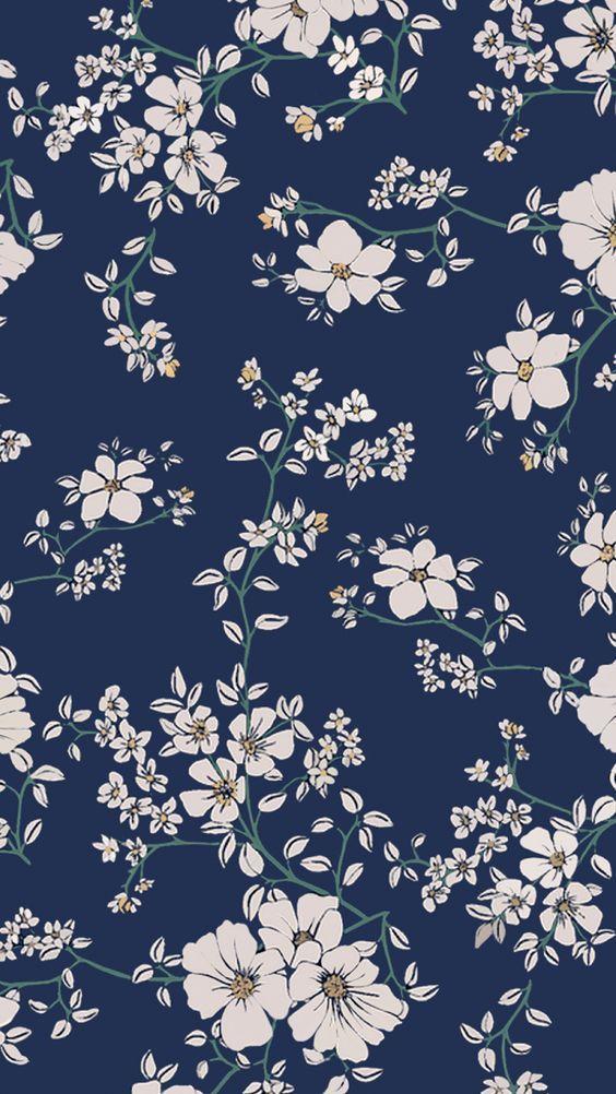 Pretty Flowers Papel De Parede Flor Azul Wallpaper Florido Papeis De Parede Blue flower wallpaper cartoon