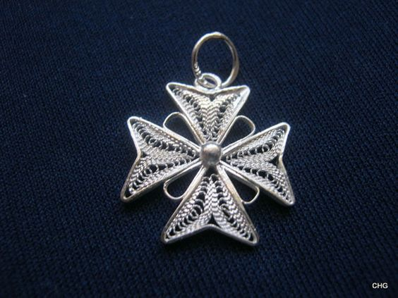 Handmade Sterling Silver Maltese Cross Filigree by TrulyFiligree, $10.00