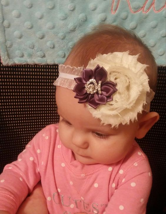 Hey, I found this really awesome Etsy listing at https://www.etsy.com/listing/210779015/baby-headband-purple-satin-flower-with