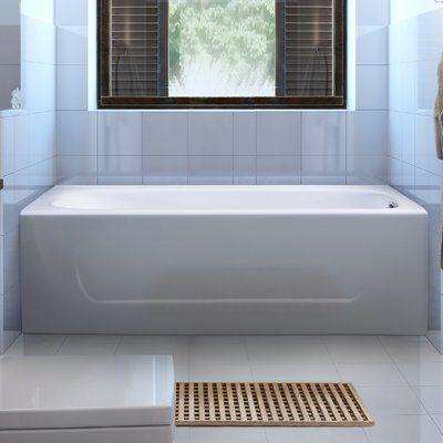 Streamlinebath Cast Iron 60 X 30 Clawfoot Soaking Bathtub Soaking Bathtubs Bathtub Drop In Bathtub