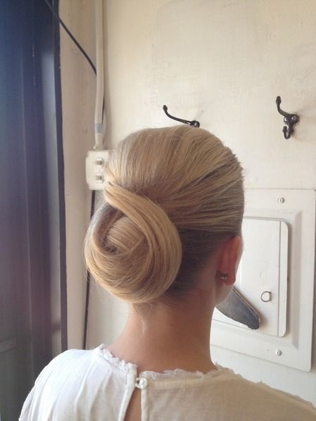 Classic chignon | 39 Pretty Wedding Day Updos To Inspire Your Big Day Look | Bustle
