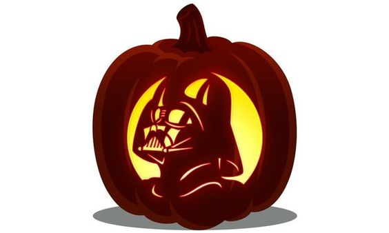 Darth Vader pumpkin template - how you can carve a pumpkin to look like the Star Wars character