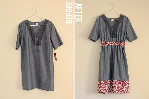 see kate sew: frumpy dumpy three dollar dress: refashioned