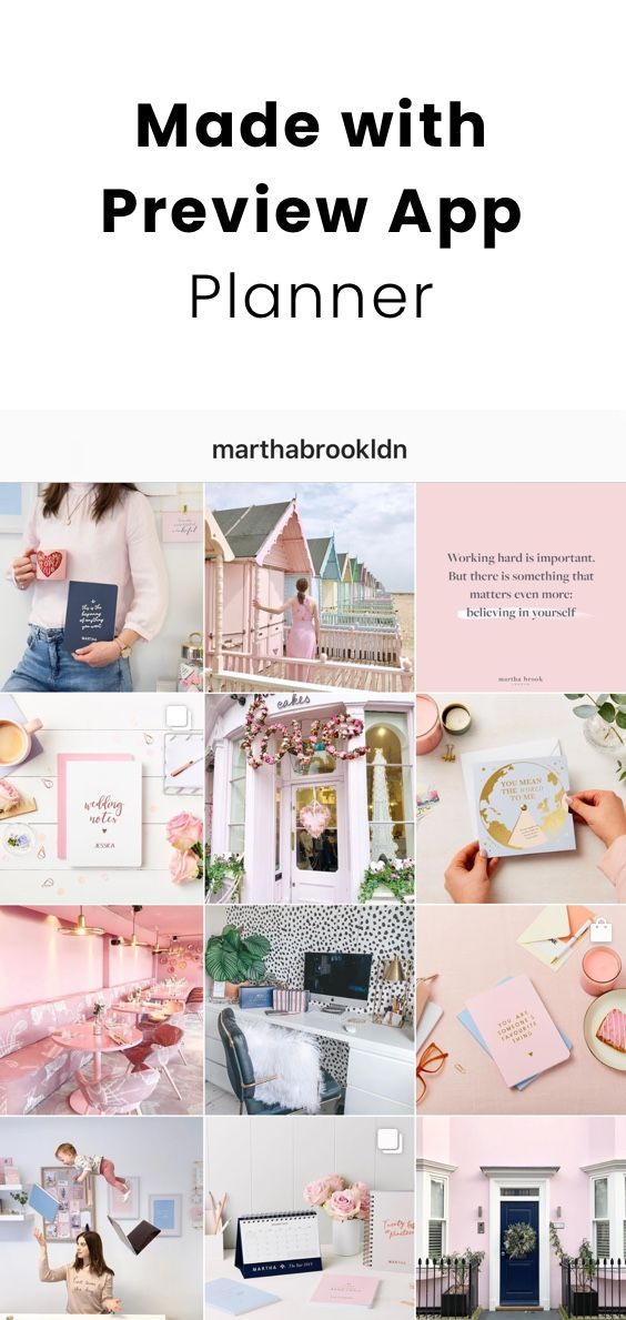 Pastel Instagram Theme Inspiration Preview App Plan Your
