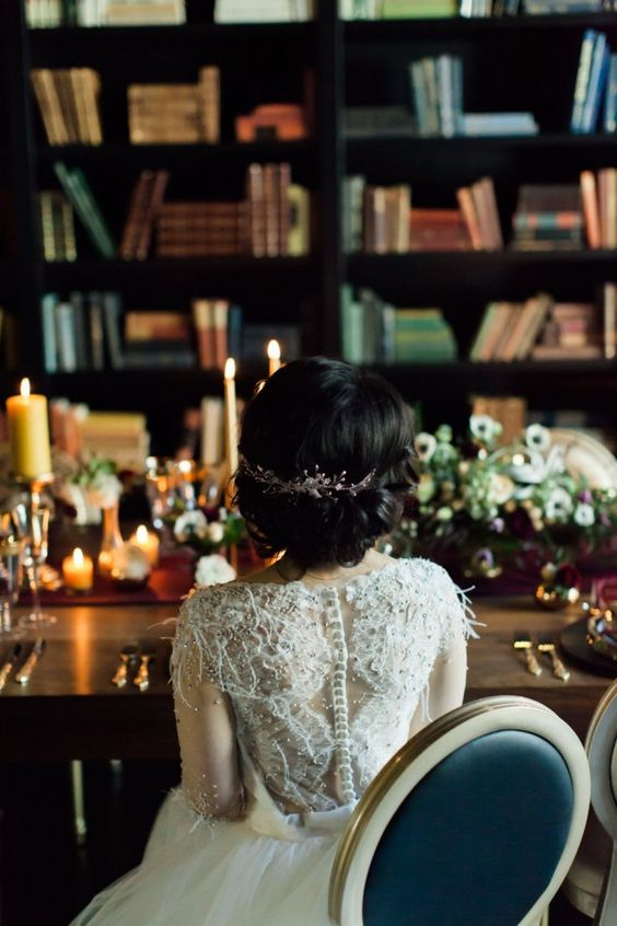 As a book lover, a library wedding would be a dream | Lauren Miller Photography