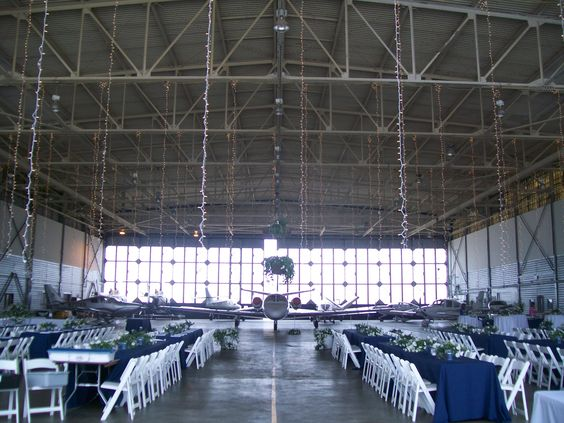 Airplane Hangar Wedding: Airplanes And Wedding On Pinterest