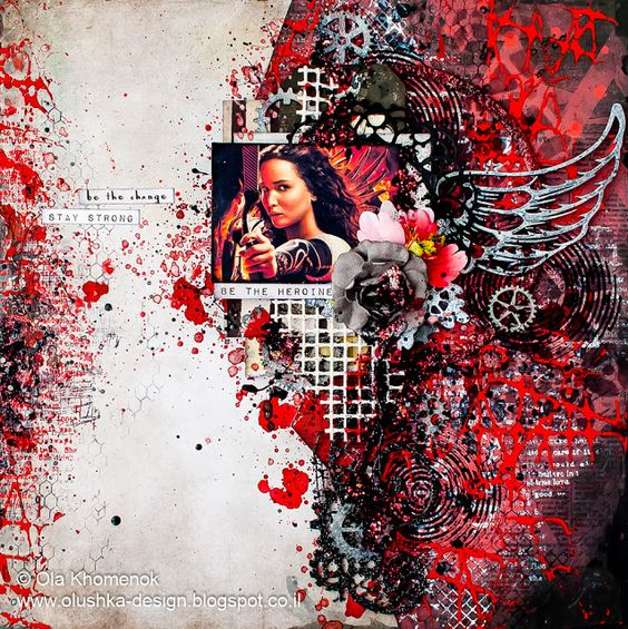 LikeArtStudio by Ola Khomenok: Be the Heroine. Mixed Media layout.