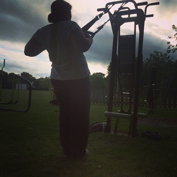 Jamming the trx Kam body weight power