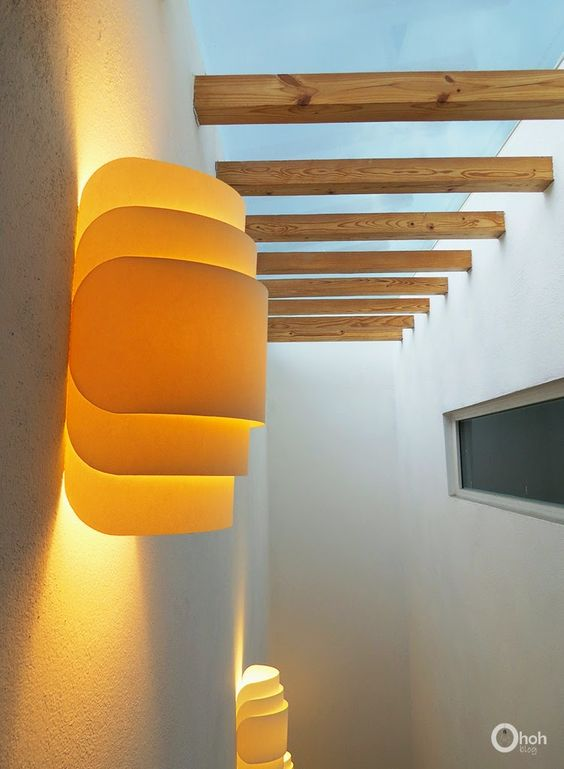 DIY Paper wall lamp #lampshade #papercraft
