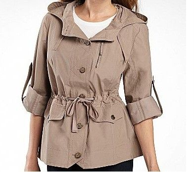 Details about ladies women's fall Spring light Anorak, Hooded ...