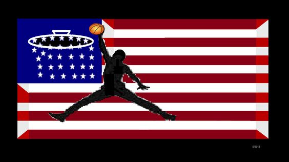 American, U.S.A, 3D, HD, HIGH definition, FLAG.basketball