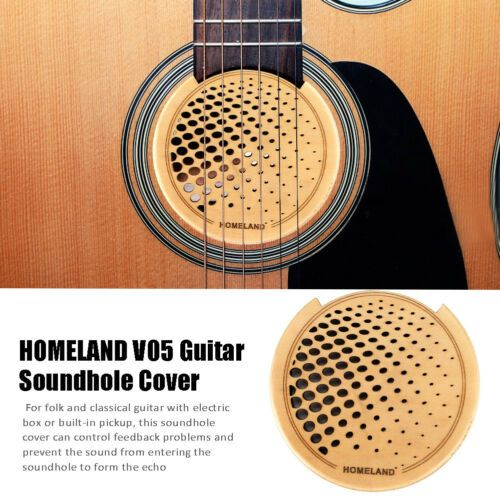 5 93 High Quality Acoustic Guitar Feedback Buster Soundhole Cover Wooden Protector Acoustic Guitar Guitar Acoustic