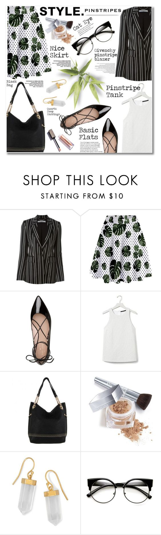 """09.08.16 Perfect Pinstripes"" by shirleipatricia ❤ liked on Polyvore featuring Givenchy, Kate Spade, Banana Republic, Christian Dior and BillyTheTree"