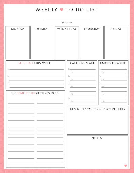 12 best To Do Lists images on Pinterest Planner ideas, Happy - free daily planner download