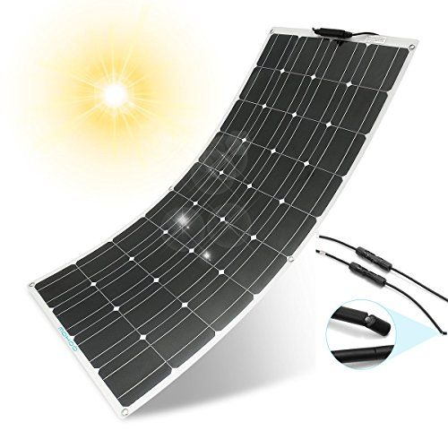 Flexible Solar Panel Mohoo 100w 18v 12v Ultra Thin Lightweight Cells Solar Charger With Mc4 Connectors For Flexible Solar Panels Solar Panels Best Solar Panels