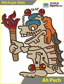 Ah Puch (ou Yum Cimil), o senhor da morte, é o dirigente do nível mais profundo do Submundo e assume muitas formas diferentes: a de um esqueleto, a de um defunto inchado e com gangrena, ou de uma coruja.