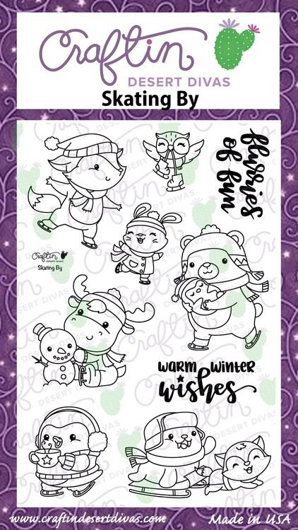 Skating By|Stamp Set|Craftin Desert Divas