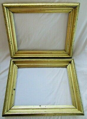 Antique Fits 10 X 14 Lemon Gold Gilt Picture Frames Wood Gesso Fine Art Pair Ebay In 2020 Frame Gold Picture Frames Picture Frames