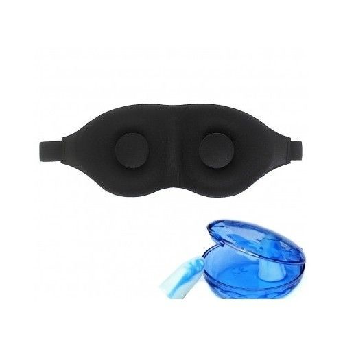 Sleep Rest  Mask And Ear Plug Set Case Included Sleep Light Blocker Relax New