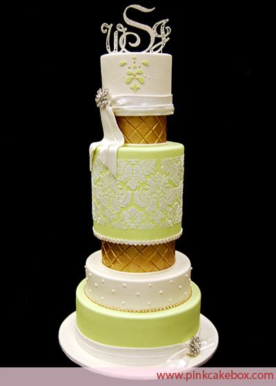 My actual wedding cake! lol! cant believe i found it here! PINK CAKE BOX in DENVILLE NJ
