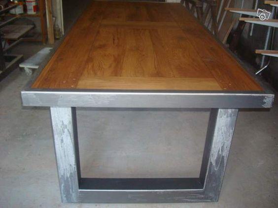 Fabrication de meuble bois et fer ameublement lot et garonne table haute - Fabrication table bois ...