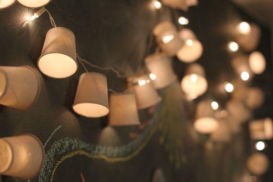 Dica rápida: fio de luz com copinhos descartáveis