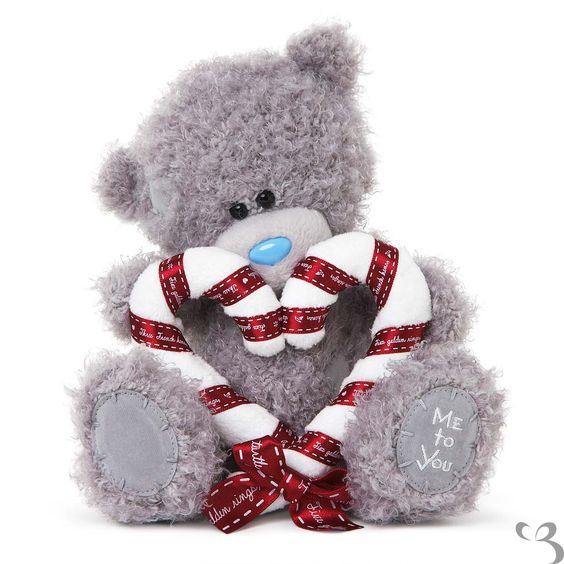 Candy Cane Heart Tatty Teddy Me To You Bear